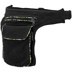 Bolso de cadera negro - algodón - con cierre magnético