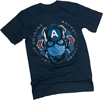 Colored Snow Flake -- Captain America: The Winter Soldier Movie T-Shirt, XX-Large