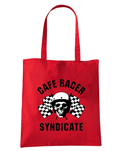 T-Shirtshock - Borsa Shopping TB0170 cafe racer syndacate vintage Rosso