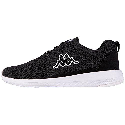 KappaSPEED II Footwear unisex, Mesh/Synthetic - Scarpe da Ginnastica Basse Unisex - Adulto, Negro - Black (1110 BLACK/WHITE), 41