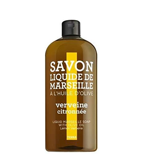 Compagnie de Provence Terra - Liquid Marseille Seife - 1L Refill - Flüssigseife - Lemon Verbena - Eisenkraut - Lemon Verbena Liquid