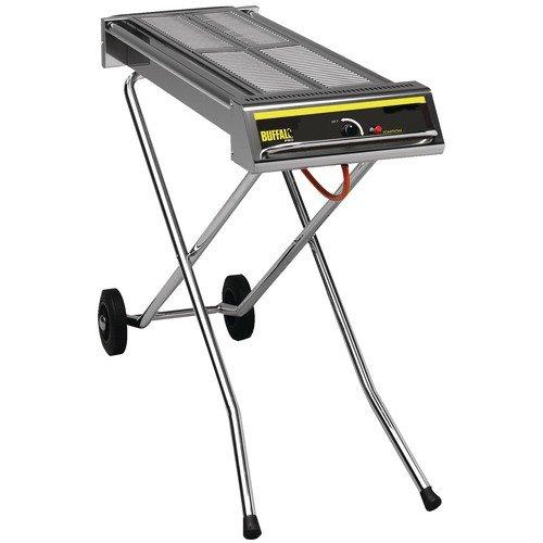 Buffalo Folding Propane Gas Barbecue On Wheels 900X1120X410mm Char Grills