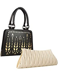 Element Cart Pu Wallet/Clutch/ Purse Combo Of 2 For Women (Black And White) - B07HH9WQN3