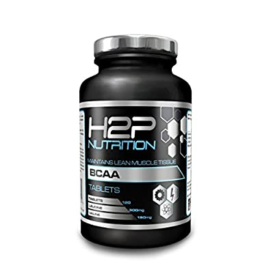 BCAAs by H2P Nutrition- max Strength Tablets/Suitable for Both Men & Women / 120 Tablets per Container/High Dosage/Made in UK - 100% Money Back Guarantee from H2P Nutrition