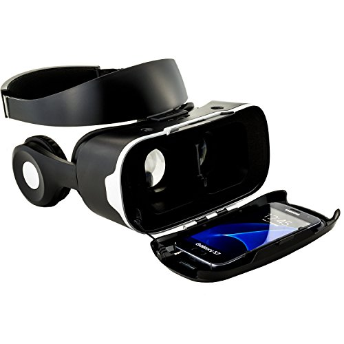 Virtual Reality Brille VR Shinecon 4.0 mit Headset für virtuelle Realität - VR-Box für Handy - Kompatibel mit Android & iOS - Universal für alle 3,5 bis 6 Zoll Smartphones von Samsung Galaxy | Apple iPhone | Huawei | Sony Xperia | HTC | Google Pixel | LG | Microsoft - 3D Filme, VR-Movies, VR-Games, 360 Grad Spiele