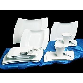 tafelservice cannes 12 personen geschirr aus porzellan 60tlg geschirr wei neu sch ne teller. Black Bedroom Furniture Sets. Home Design Ideas