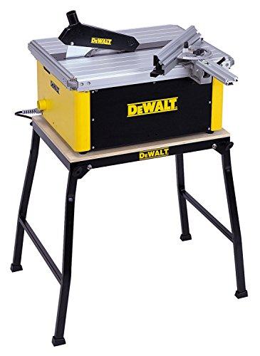 DeWalt Tischkreissäge DW745/ Leistungsstarke Säge mit Parallel- und Gehrungsanschlag für höchste Präzision / Tischkreissäge inkl. HM-Sägeblatt und Absaugreduzierung / 1850W - 2