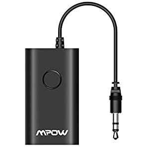 Mpow - Transmisor inalámbrico Bluetooth A2DP de música y audio,  con cable RCA Estéreo y Jack 3,5 mm, alcance de 10m para móvíl iPad Kindle Fire MP3 / MP4 Tablet