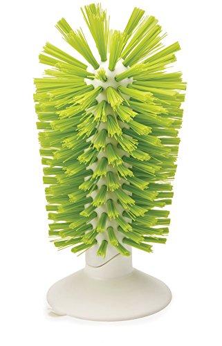 Joseph Joseph Brush-up-Glasspülbürste Grün, Kunststoff, 8 x 8 x 14.2 cm