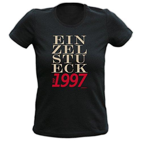 witziges und tolles 18. Geburtstags Girlie t-shirt Farbe: schwarz EIN ZEL STU ECK 1997 Schwarz