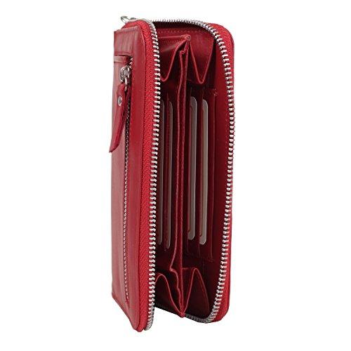 Greenburry Spongy portafoglio pelle 17 cm compartimente cellulare gelb Rot