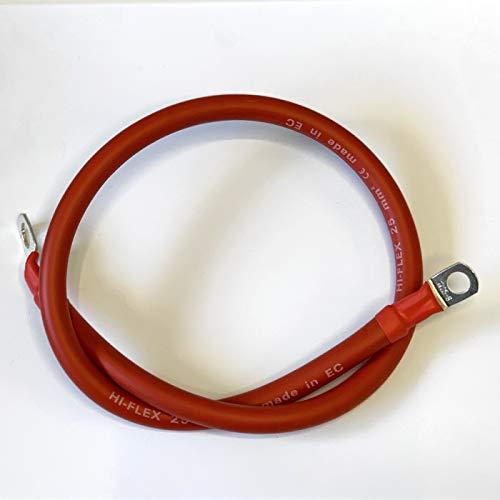 BMF DIRECT® - Cavo per batteria con occhielli per collegare batteria esterna, colore: rosso/nero