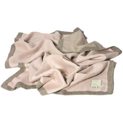 Baby coperta coperta per bambini, Ragazza 80x 100cm in 100% alpaca lana Royal doppio lato rosa