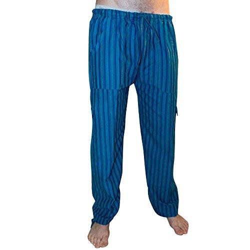 Pantalones de algodón coloridos, comercio ético, muy cómodos. Rayas