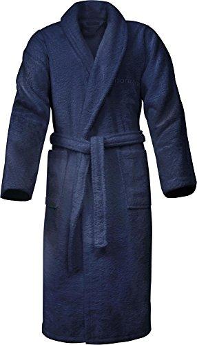 Bademantel 100% Baumwolle mit Frottee I - Öko-Tex 100 - Premium Qualität by normani® Farbe Marine Größe XL (Herren Frottee-bademantel)