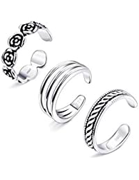 8fee89647 Milacolato Toe Rings for Women Girls Sterling Silver Toe Rings Stackable  Rings Adjustable Open Toe Ring