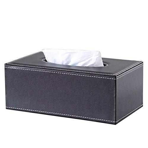 KINGFOM™ Klassisch Rechteckige Kosmetiktücherbox Taschentücherbox ,Schwarz