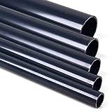 1 Meter PVC Rohr, Druckrohr 10 und 16 bar 25 32 40 50 63 mm PVC-U ohne Muffe für Gartenteich, Aquaristik, Sanitär, Bau und Abwasser (40 mm)