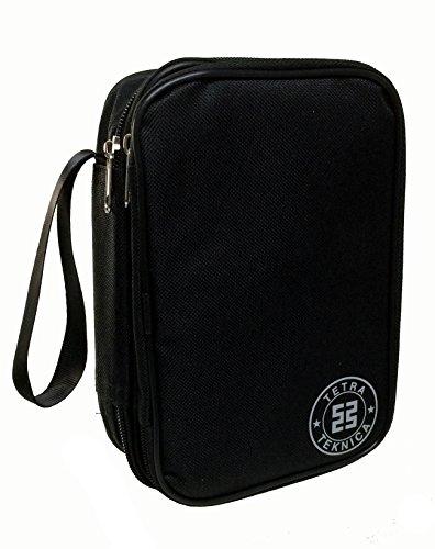 Tetra-Teknica Essentials-Serie MCH-01 doppellagig & gepolsterte Farbe Reißverschluss-Tasche mit Handschlaufe für Handheld-Multimeter, schwarz
