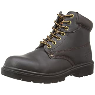 Dickies FA23333 BR 5+ Antrim S1-P Safety Work Boots, Brown, Size 5.5