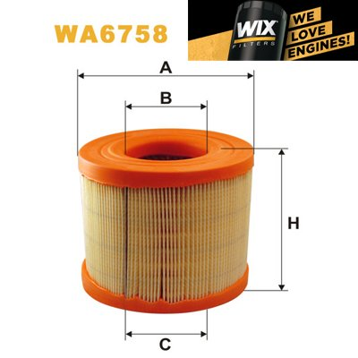 Wix Filters WA6758 Replacement Air Filter