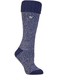 HEAT HOLDERS - Las mujeres termo calcetines Botas de agua Tamaño 4-8 púrpura (