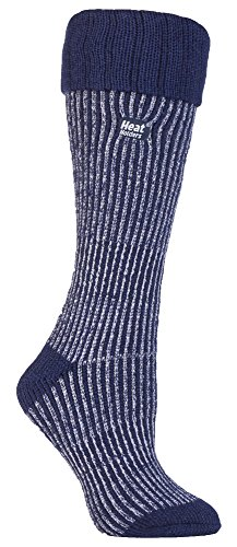 HEAT HOLDERS - Damen Wärme Winter thermo Gummistiefel socken stiefelsocken in 4 Farben 37-42 EUR (lila/lila Stiefel) (Thermo-socken-wärme-halter)