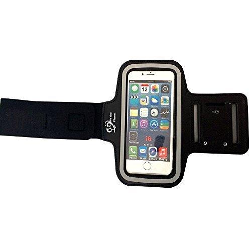 Premium Sportarmband (schwarz) für Apple iPhone 6, 5S, 5, Samsung Galaxy S4 | Einstellbare, Nonslip, angenehm zu tragen | passt jedem Smartphone mit 13,2 cm Bildschirm (Planet-kopfhörer Apple)