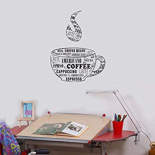 Bestseller Wandaufkleber Kaffeetasse Form Tropfen Art PVC Druck Wandaufkleber Kaffee PVC Druck