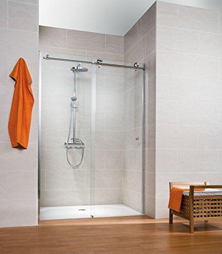 Schulte 4060991028762Porte De Dusche in Nische MasterClass Fotografie mit System Schiebetür aus hoch, Profile Aspekt chrom, Glas transparent, 120x 200cm