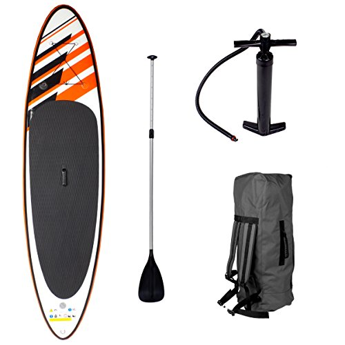 SUP Board Stand up Paddling Surfboard CRUISER 300x76x15cm aufblasbar Double-Layer Alu-Paddel Hochdruck-Pumpe Transportrucksack Paddle