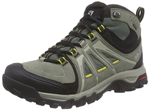 Salomon  Evasion Mid GTX, Chaussures de trekking et randonnée homme Noir - Schwarz (Black/Autobahn/Pewter)