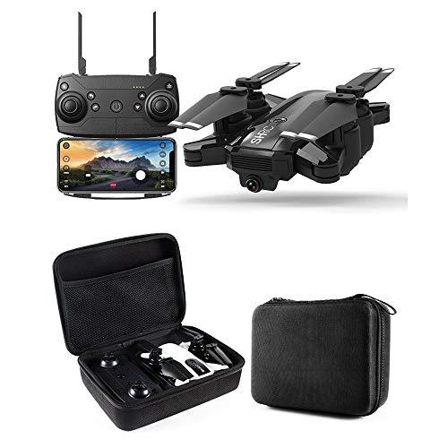 KEoly Drone con Fotocamera Drone radiocomandato,FPV /Set Fotografia / GPS di Posizionamento Segui/ Lungo Flying Time / VR Volo in Diretta / Long Distance Control / Film-Level Point Fly (Nero)