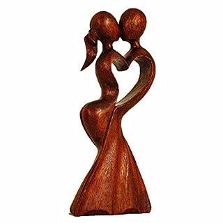 Holz Figur Skulptur Abstrakt Holzfigur Statue Afrika Asia Handarbeit Deko Hochzeit Größe 20 cm