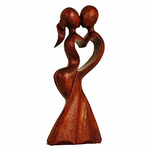 Simandra Holz Figur Skulptur Abstrakt Holzfigur Statue Afrika Asia Handarbeit Deko Hochzeit Größe 10 cm