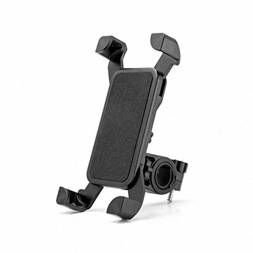 MEACOM Fahrrad Handyhalterung Handy Halter Universal 360° Drehbare Handyhalter Anti-Rutsch Lenker geeignet für 11.5~18cm Handy/Navi( BH002-Schwarz)