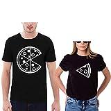 Tee Shirt Été Sœurs Shirt PartnerLook Couple Shirt Imprimé Coton T-Shirt Manches Courtes Doux pour Les Couples comme des Cadeaux Casual Basique Unisexe T-Shirt Tops Haut(wh,m)...