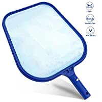 Buluri Professional Pool Skimmer, Heavy Duty Leaf Skimmer- Fine Mesh Net - Sturdy Frame - Suitable for Spas,Swimming Pool, Hot Tubs,Fish Tank - For Cleaning Pool Leaves and Debris (Fine Skimmer)