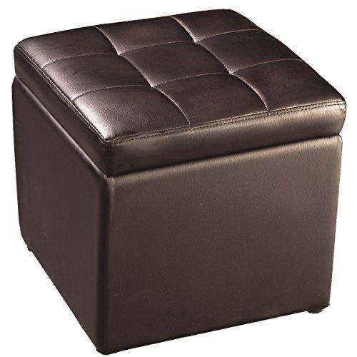 Coffre de Rangement Siège de Rangement Boîte/Tabouret Cube Pouf Ottoman de Rangement 40 x 40 x 40 cm