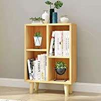 CZLSD Creative Simple Cabinet Small Bookshelf Floor Simple Modern Solid Wood Bedroom Study Storage Combination Lattice Rack.