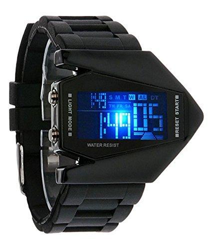 ForYou™ Sports Digital Black Dial Unisex & Kids Watch - Watch airo plane