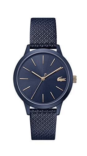 Lacoste Damen Analog Quarz Uhr mit Leder Armband 2001091 - Movado Uhren Damen