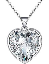 """ixiqi Jewelry–""""I Love You a la luna y Volver"""" Corazón Infinito Amor corazón chapado en oro con camafeo collares Regalos regalo para las mujeres foto, 45cm cadenas"""