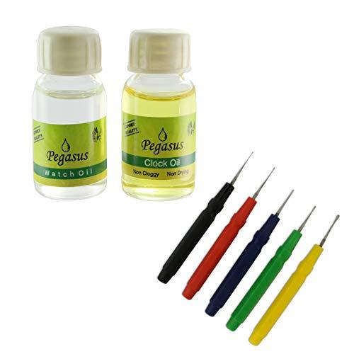 Juwelier-Werkzeuge für Uhren- und Uhren-Öl, 10 ml, 5 Ölstifte