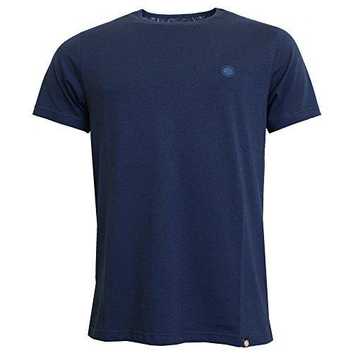 Pretty Green Herren Mens Cotton T-Shirt, Dunkelgrau (Dark Grey Marl), Einheitsgröße blau (marineblau)