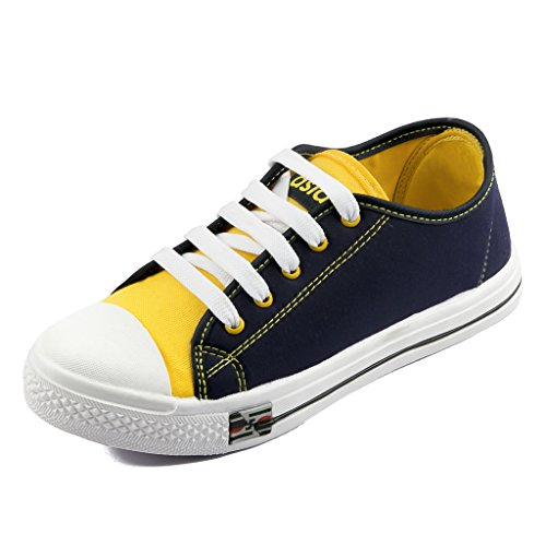 Asian Shoes PARIS 91 Navy Blue Yellow Womens Casual Sports shoes 5 UK/Indian