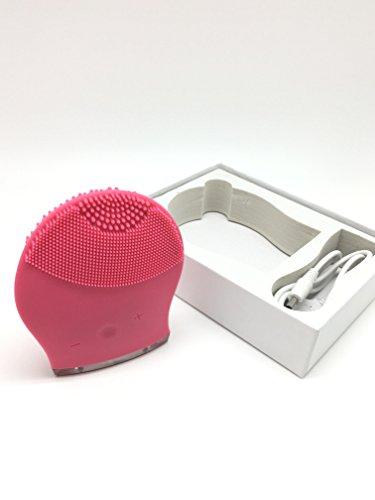 Coque en silicone Sonic Brosse de nettoyage du visage pour nettoyage en profondeur, exfoliant et masser votre visage – anti-âge, acné, améliorer votre Peau avec un nettoyage en profondeur – Facile à utiliser et batterie. (fonctionne aussi sur du cou et des bras)