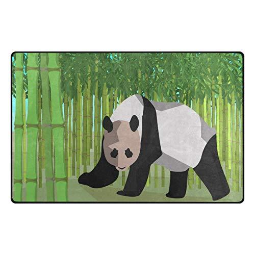 MNSRUU Aquarell Panda Bambus Teppich Anti-Rutsch-Fußmatte Fußmatte für Kinderzimmer, Wohnzimmer und Schlafzimmer, Textil, Multi, 50 x 80 cm(1.7' x 2.6' ft)