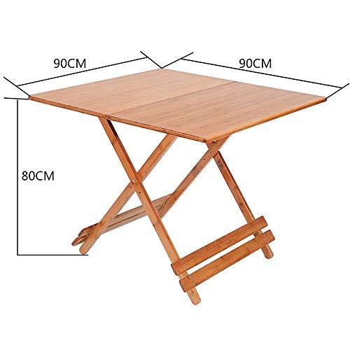 Alppq Unzerstörbar faltbar kleinen Tisch Esstisch Haushalt quadratischen Tisch im Freien tragbare Massivholz einfachen Tisch Bankett Klapptisch Mehrzweck platzsparende persönliche Klapptisch Utility