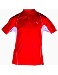VICTOR Polo pour Homme Red 6040, rouge/blanc